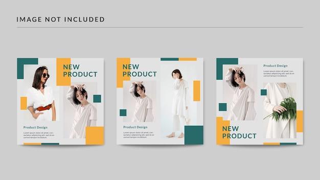 Neue produkt-social-media-post-vorlage