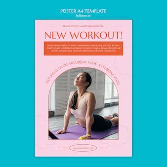 Neue workout-poster-vorlage