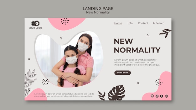 Neuer normalitäts-landingpage-stil