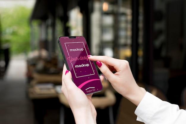 Neues modell des smartphone-konzepts