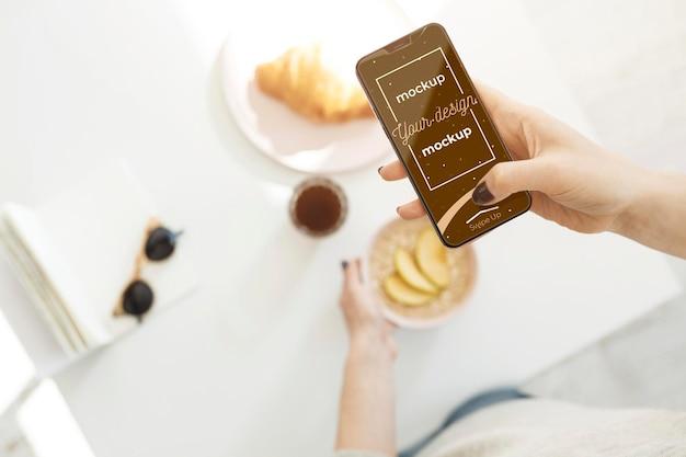 Neues modell des smartphone-konzepts Premium PSD