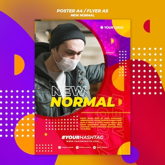 Neues normales plakatdesign