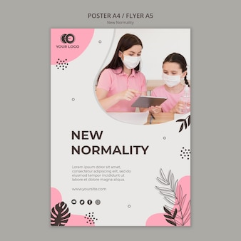 Neues normalitätsplakatdesign