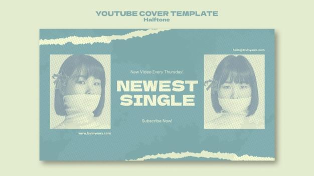 Neues single-youtube-cover im halbtonstil
