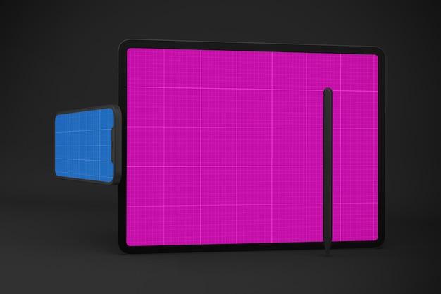 Neues smartphone 12 & digital tablet pro mockup Premium PSD