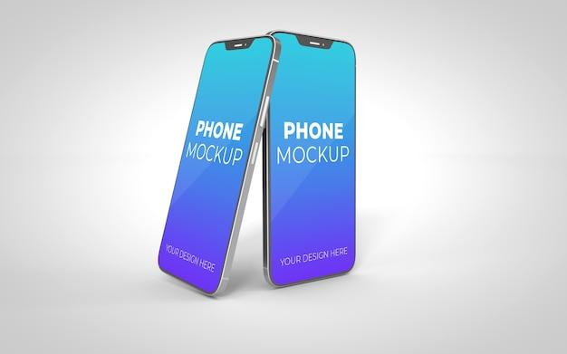 Neues smartphone-modell schwebend isoliert