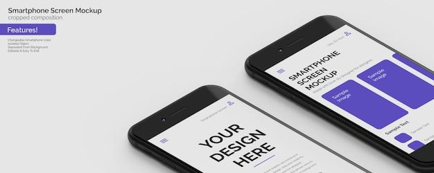 Neuestes smartphone mit 4,7-zoll-hd-bildschirm mockup template zusammensetzung