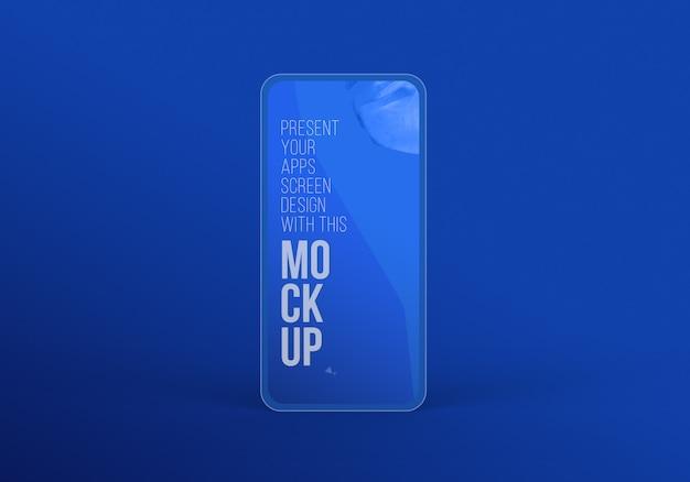 Neuestes smartphone pro-modell zur präsentation von kunstwerken premium psd