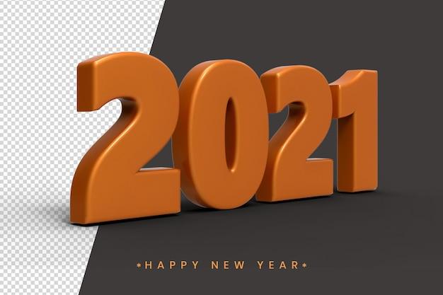 Neujahr 2021 3d texteffekt