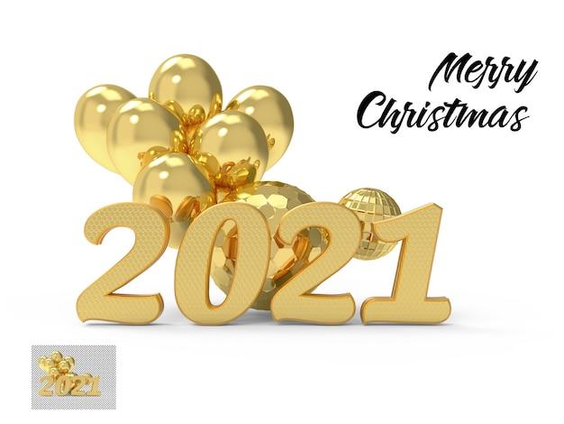 Neujahr 2021 goldene zahl isoliert