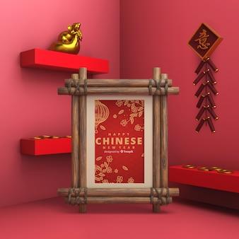 Neujahrsfeier mit künstlerischen dekorationen