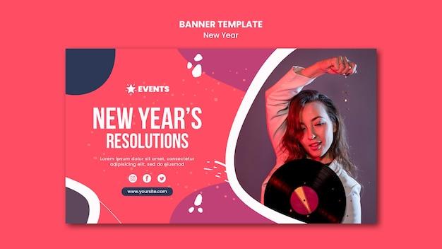 Neujahrskonzept-banner-vorlage