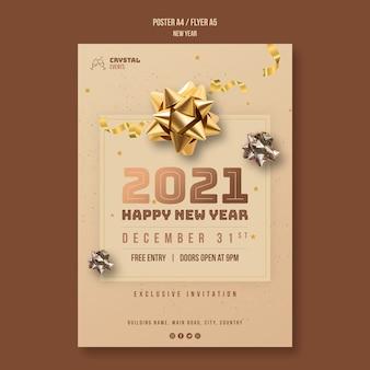 Neujahrskonzept flyer vorlage