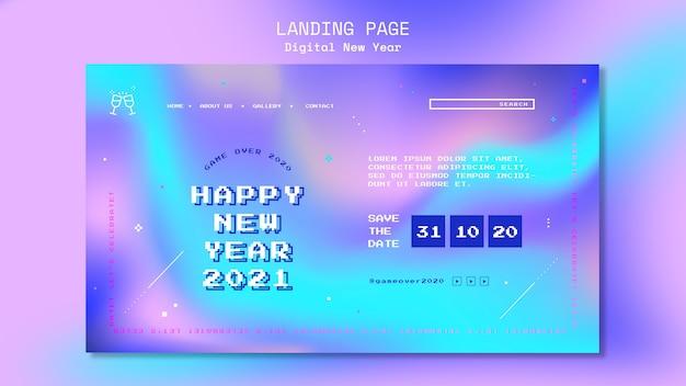 Neujahrskonzept landingpage vorlage