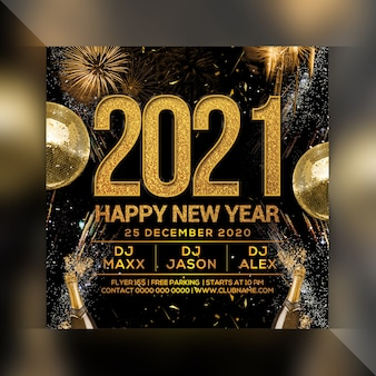 Neujahrsparty flyer vorlage