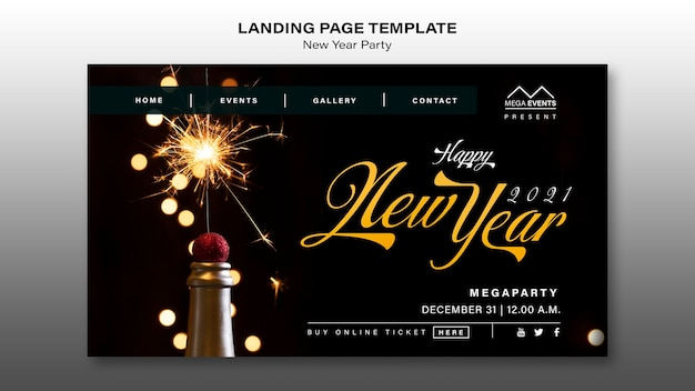 Neujahrsparty landing page