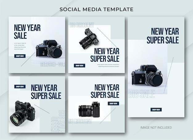 Neujahrsverkauf instagram post bundle vorlage