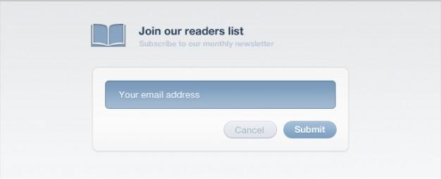 Newsletter up form schnittstelle registrieren