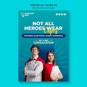 Nicht alle helden tragen eine umhang-konzeptvorlage