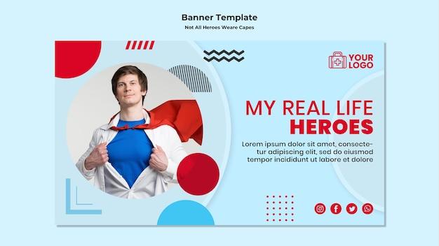Nicht alle helden tragen umhang-banner-vorlage