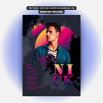 Nick dj party flyer