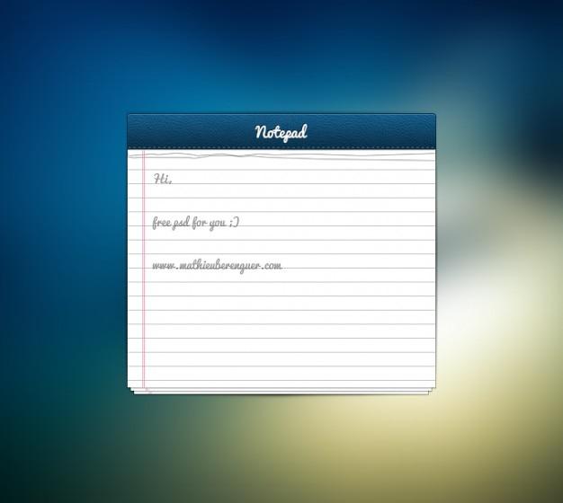 Note notizblatt papier ui benutzeroberfläche