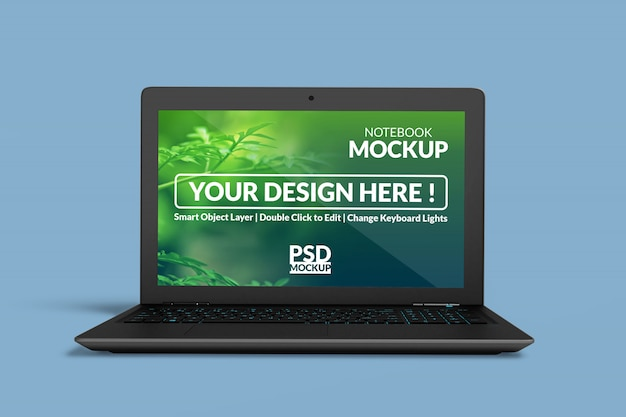 Notebook digital device mockup design