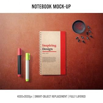 Notebook mock-up-vorlage