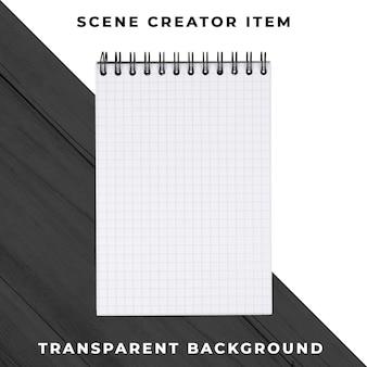 Notebook-objekt transparent psd
