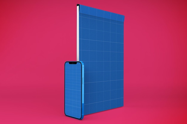 Notepad & smartphone-modell