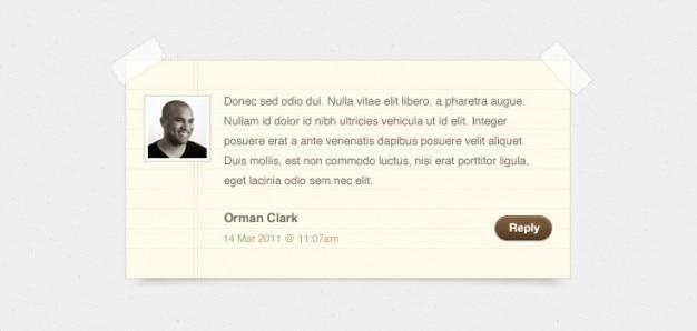Notepaper blog kommentare (psd)