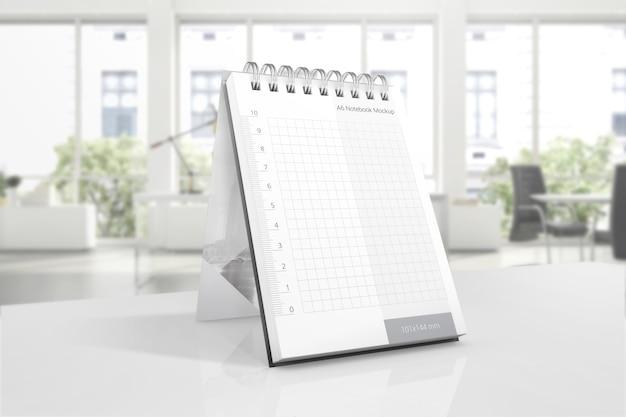Notizblock-modell auf tabelle