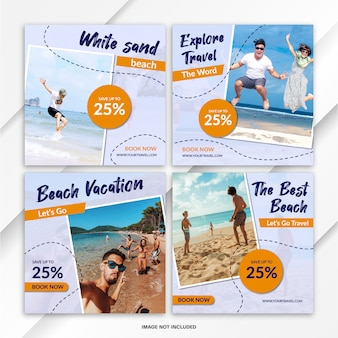 Nstagram feed post bundle reisevorlage
