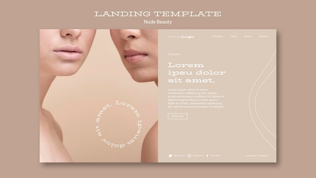 Nude beauty landing page vorlage
