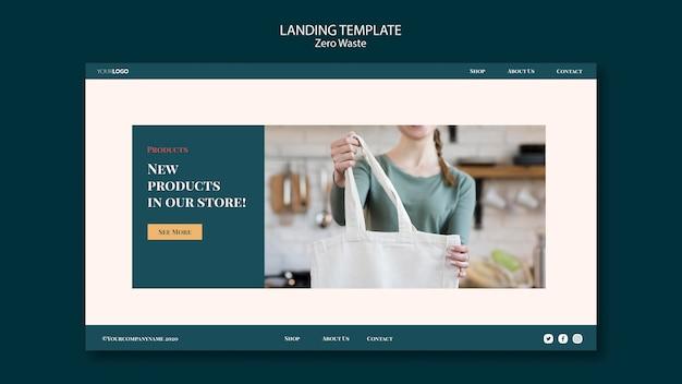 Null-abfall-landingpage-thema