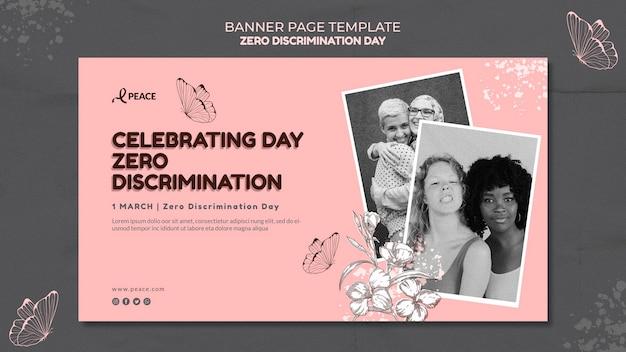 Null diskriminierung tag banner vorlage
