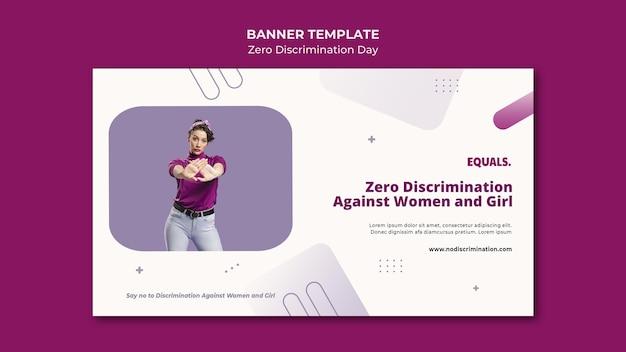 Null diskriminierung tag ereignis banner vorlage
