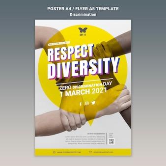 Null diskriminierung tag poster vorlage