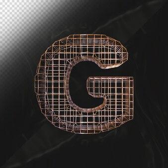 Nummer 0 3d-render mit realistischer metallischer textur-seitenansicht