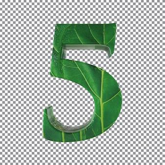 Nummer 5 stilblätter