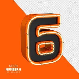 Nummer 6 rendern realistische 3d-lichter