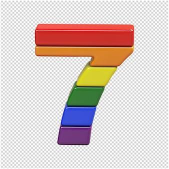 Nummer aus den farben der lgbt-flagge