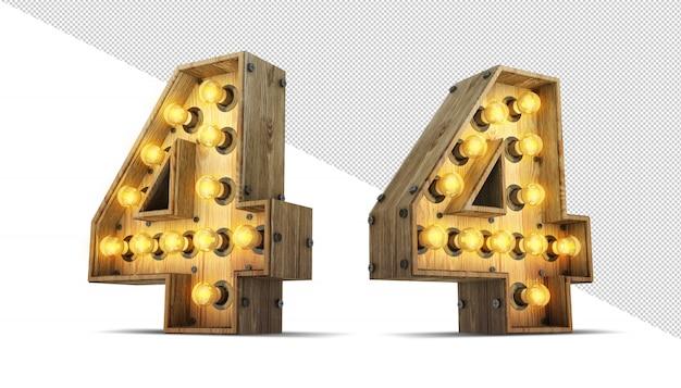 Nummer glühbirne zeichen
