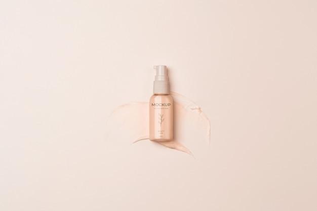 Obenansicht kosmetikproduktbehälter