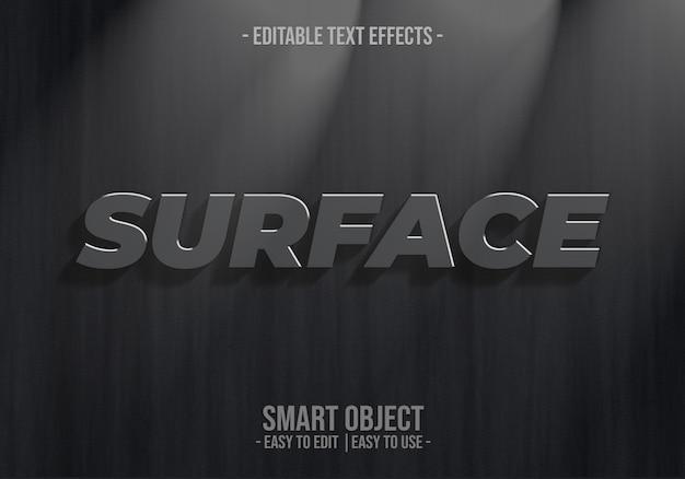 Oberflächentext-effekt