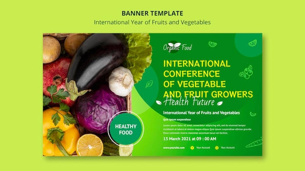 Obst und gemüse jahr banner vorlage