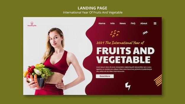 Obst und gemüse jahr web-vorlage