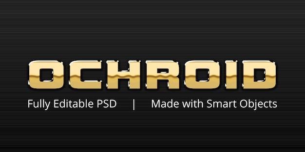 Ochroid text style-effekt