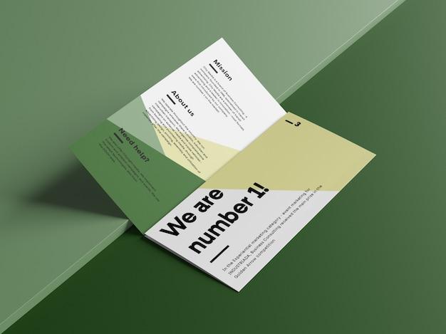 Öffnen sie das trifold brochure mockup
