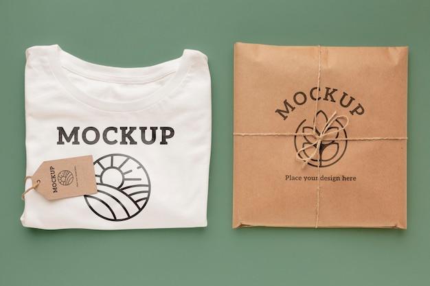 Ökologisches t-shirt-verpackungsmodell